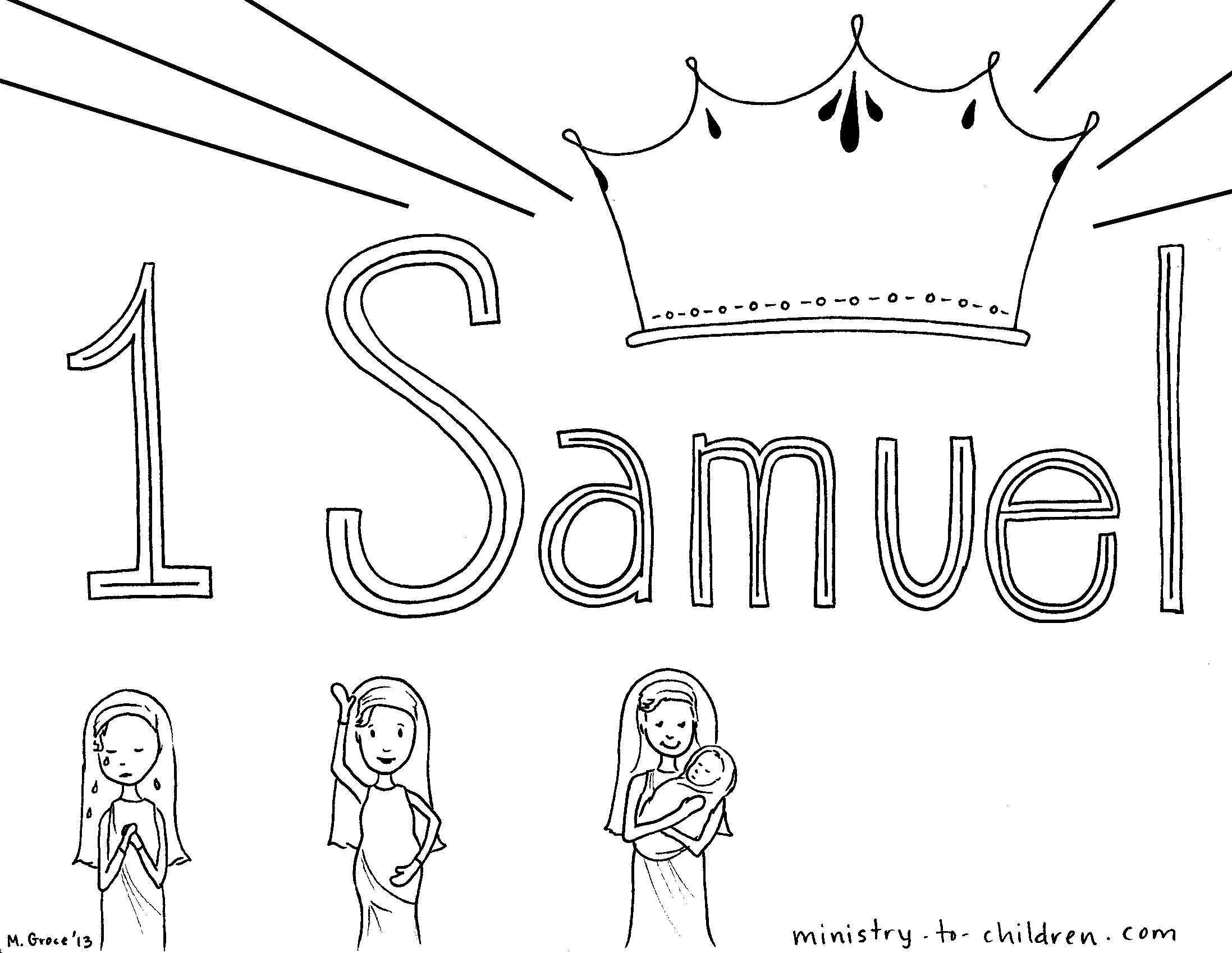 1 samuel 1 closerdaybyday for Samuel bible coloring pages